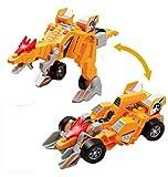 Verformbare Dinosaurier-Spielzeug-Auto für Kinder, Gelb