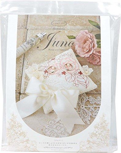 Kit di nozze Hamanaka Juno (Juneau) Pink Rose del cuscino anello H4.3.1.-1.5.7.