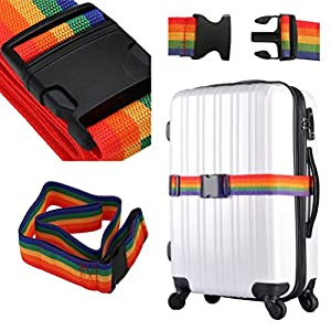 Hunpta réglable Valise Sangles bagages de voyage arrimage Boucle Baggage Ceinture Lock