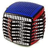 Qiulv 15x15 mágico Cubo 15 Capa Velocidad Rubik Cubo Creativo Personalizado Giro Rompecabezas Educativo Intelectual Desarrollo por Niños Profesional Juego Competencia Herramienta Adulto Regalo,Black