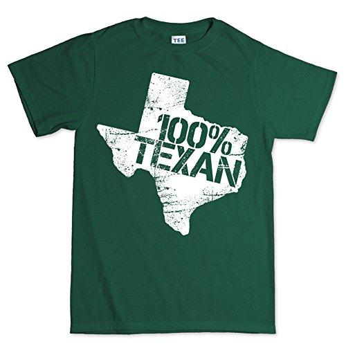 100% Texan Lone Star Texas Pride Home Longhorn Ranger T shirt