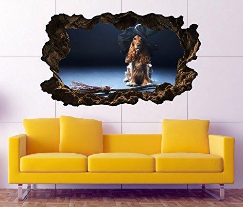 exe Hut Hexenbesen Halloween selbstklebend Wandbild Tattoo Wohnzimmer Wand Aufkleber 11L071, Wandbild Größe F:ca. 162cmx97cm ()