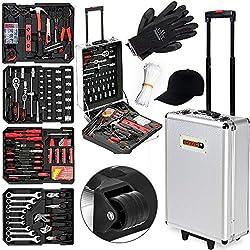 Monzana® Werkzeugkoffer XXL gefüllt Set 929tlg | Qualitätswerkzeug - Werkzeugkasten Werkzeugkiste Werkzeugtrolley bestückt