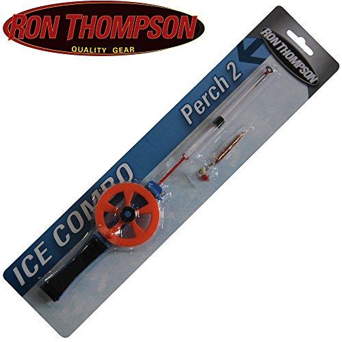 Ron Thompson Ice Combo Perch medium soft - Eisangelset zum Eisangeln auf Barsch & Forelle, Angelrute zum Eislochangeln