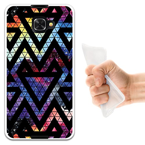 WoowCase Alcatel Idol 4S Hülle, Handyhülle Silikon für [ Alcatel Idol 4S ] Raum Galaxie Geometrische Dreiecke Handytasche Handy Cover Case Schutzhülle Flexible TPU - Transparent