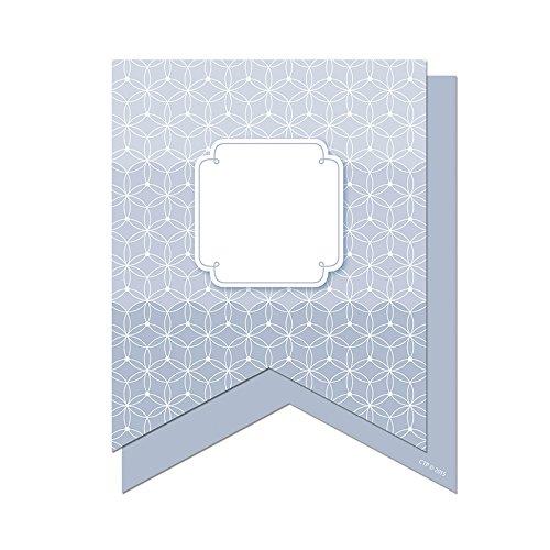 Preisvergleich Produktbild SLATE GRAY PENNANTS 6IN DESIGNER