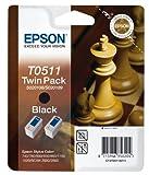 Epson T0511 Tintenpatrone Schach, Multipack, schwarz