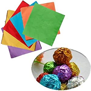 "100Pcs 3""X 3"" Square Foil Wrappers For Candy Chocolate Sweets Confectionary"