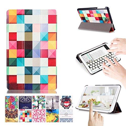 [Multi-Winkel-Standplatz] [Automatische Aufwachen / Schlaf Feature] Galaxy Tab E 9.6 Hülle, [Stoßfest] Anti-Kratz-Schutz Schlank Folio Fall Hülle für Samsung Galaxy Tab E 9.6/SM-T560/SM-T561/SM-T567 Verizon 4G LTE