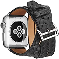 Magiyard - Cinturino per Apple Watch da 38/42 mm, Nero , S
