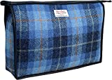 Vagabond Bags Harris Tweed Blue Check Giant Holdall Bag Kulturtasche, 34 cm, Blau (Mid Blue)