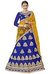 Maroosh BLUE Color NETT Embroidery Designer Lehenga