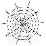 SpringPear 150 cm Schwarz Spinnennetz + Plüsch Spinne für Horror Halloween Party Mottoparty Deko Groß Spinnen Netz
