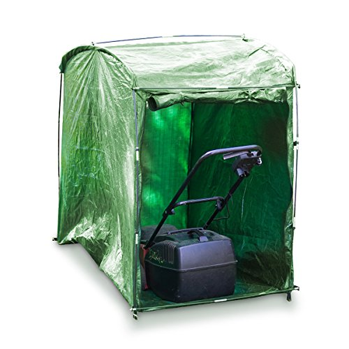 Relaxdays Lawnmower Weather Proof Protective Cover Lawn Mower Garage, Green Test