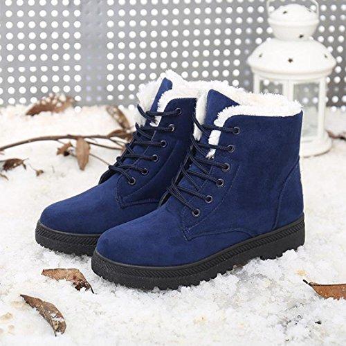Amlaiworld Nuove Donne Classici Pattini Caldi Snow Boots Moda Stivaletti Invernali Blu