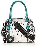 GABS GIULIA - Bolso de mano de cuero mujer, color blanco, talla 36x30x1 cm (B x H x T)