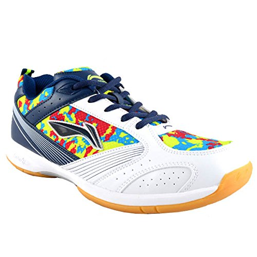 Li-Ning White Badminton Shoes-Camo Star