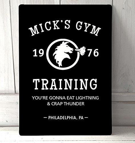 Mick 's Gym, Rocky Film schwarz A4Metall Schild Art Wand