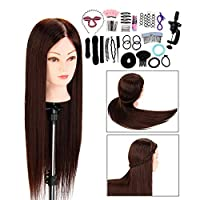 "Neverland Training Head Professional Hairdressing Stying Head Mannequin Doll 30"" 100% Synthetic Fiber Hair with Free Clamp"