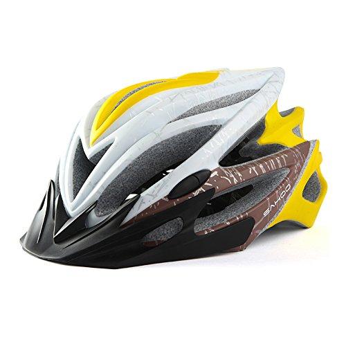 250g Poids ultra léger - Casque de vélo, Casque d'équitation combinant coque extérieure en polycarbonate avec mousse absorbant les chocs avec 22 bouches de refroidissement