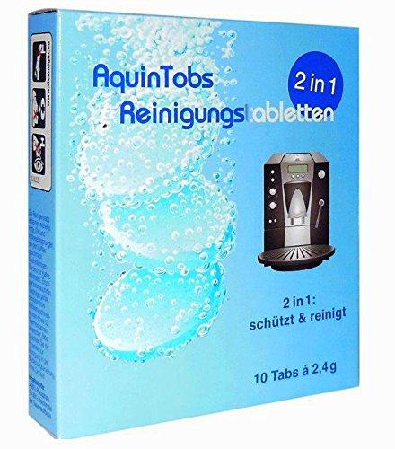 AquinTobs 2in1 Reinigungstabletten Kaffeefelllöser ersetzt die Siemens TZ80001 - Bosch TCZ8001 -...