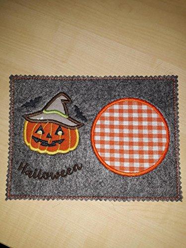 ch, Untersetzer, Filz, Halloween, Kürbis, Herbst ()