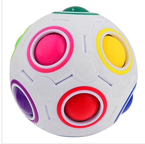 Preisvergleich Produktbild EVST Sphärische Würfel Magie Regenbogen Ball 3D Puzzle Fußball Magic Speed Cube Kinder Pädagogische Spielzeug für intelligente Kinder