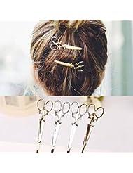 Cuhair 6pcs Femme Ciseaux Motif Pince à cheveux barrette Claw Pinces à cheveux broches Individualité Punk Accessoires