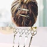 cuhair 6pcs Frauen Schere Muster Haar Clip Haarspange claw Pin Individualität Haar Clips Punk Zubehör