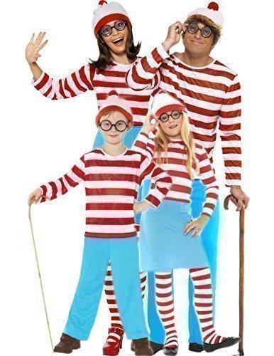 Fancy Me - Déguisements Pour toute la Famille Homme Femme Garçon Fille Où est Charlie Wanda Waldo Halloween - 7-9 ans, Garçons
