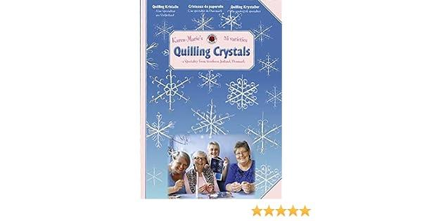 White Big Crystals Karen Marie Klip Quilling KIT