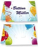 Tischkarten Geburtstag Luftballon (50 Stück) Tischkärtchen, bedruckbar/beschreibbar