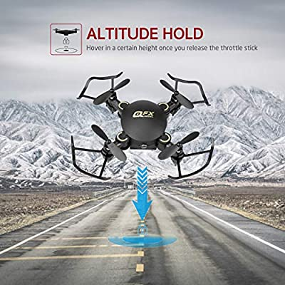 Gvoo Mini Quadcopter, Foldable Altitude Hold Mini Drone 2.4GHz 4CH 6 Axis Gyro RC Quadcopter