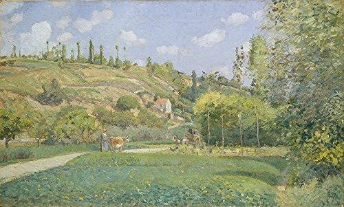 Spiffing Prints Camille Pissarro - A Cowherd at Valhermeil Auvers-sur-Oise - Large - Matte Print -