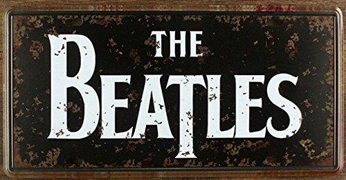 Retrò targhe la stella della musica dei Beatles vintage stagno metallico segni garage pittura parete della placca artigianato 15x30cm