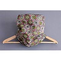 31c5671e5e01 Snood wax femme style ethnique rosace rose fuchsia noir tour de cou tissu  motifs africain vert