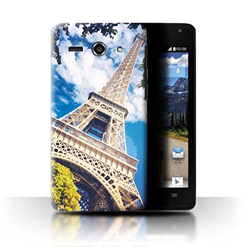 Stuff4® Hülle/Case für Huawei Ascend Y530 / Eiffelturm Muster/Schöne Weltkunst Kollektion