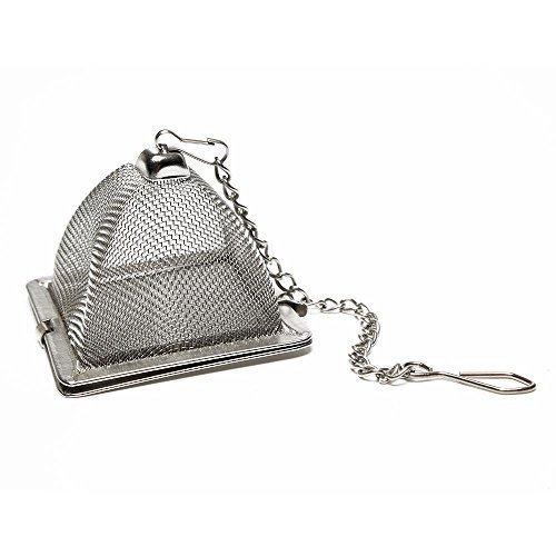 VAHDAM, infusor de té piramidal | Aprobado por la FDA de acero inoxidable 18/8 con malla súper fina | Infusores finos para té suelto | Té suelto duradero Colador y colador de té de hojas sueltas
