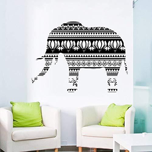 WWYJN Africa Style Vinyl Art Design Elephant Religious Wall Mural Native Africa Ornament Wall Sticker Home Bedroom Decor56x89cm