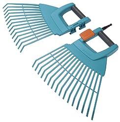 GARDENA combisystem-Kunststoff-Fächerbesen XXL vario: Der extrabreite Gartenrechen für das Zusammenfegen von Laub und Gartenabfällen, Arbeitsbreite 77 cm, passend zu allen cs-Stielen (3107-20)