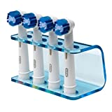Seemii detiene per testa spazzolino elettrico, si adatta Oral-B, plastica, detiene 2 o 4 teste, blu trasparente (4 teste)