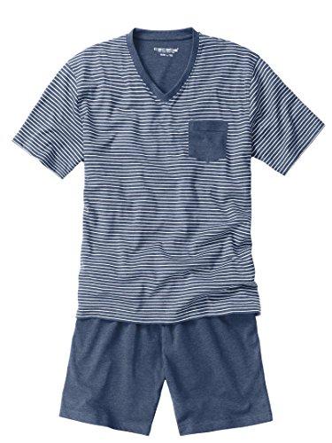 Ceceba Herren Zweiteiliger Schlafanzug Shorty, V-ausschn. melange garden