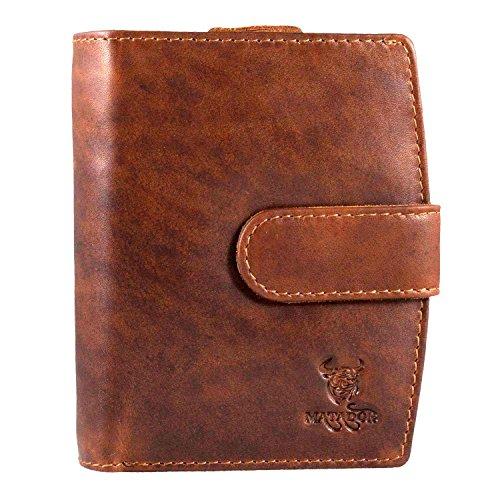 Weiche Damen Geldbörse (MATADOR Geldbörse Damen Herren ECHT Leder Portmonee Geldtasche weiches Leder Reißverschluss RFID)