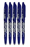 Pilot Frixion Point  Lot de 5 Roller effaçable Pointe 0,7 mm Bleu(Import Royaume Uni)