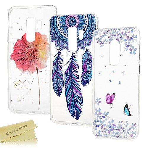 s's Diary Samsung Galaxy S9 Plus Handyhülle Cover Transparent Tasche Silikon TPU Soft Skin Schale Durchsichtige Schutzhülle Kratzfest Stoßdämpfend Handytasche Bumper Rückhülle*3-S4 ()