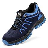 Uirend Zapatos Trabajo Industria Construcción Hombre - Calzado Seguridad Hombre Puntera de Acero Antideslizante Bajos de...