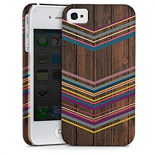 Apple iPhone X Silikon Hülle Case Schutzhülle Holz Farben Muster Premium Case glänzend