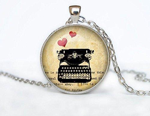 Halskette Old Schreibmaschine Anhänger Old Schreibmaschine Jewelry ()