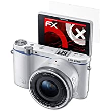3 x atFoliX Anti-Choque Lámina Protectora de Pantalla Samsung NX 3300 Antichoque Película Protectora - FX-Shock-Antireflex