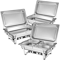 Zelsius plat-réchaud Set professionnel Montpellier, 3 x acier inoxydable de maintien au chaud, 21 pièces Chafing Dish GN, la chaleur conteneur, buffet, Réchaud